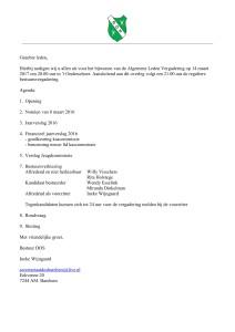Uitnodiging Algemene ledenvergadering D.O.S. (14-3-2017)