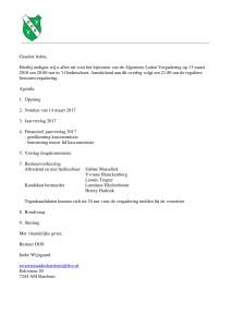 Uitnodiging (Algemene Ledenvergadering (D.O.S. (Barchem (13-3-2018))))
